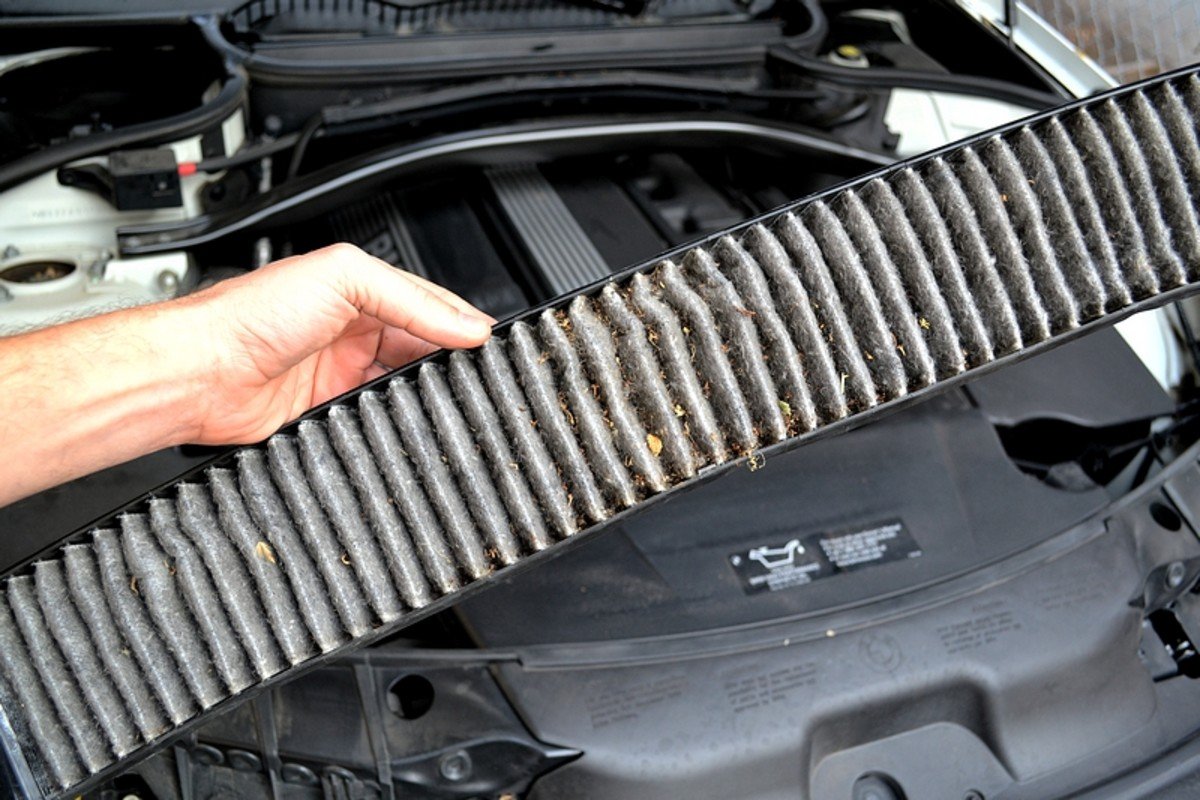 The under side of the filter (the intake dirty side).  This is after 35,000 miles and 4 years.  I will probably be changing it every 2 years from now on.