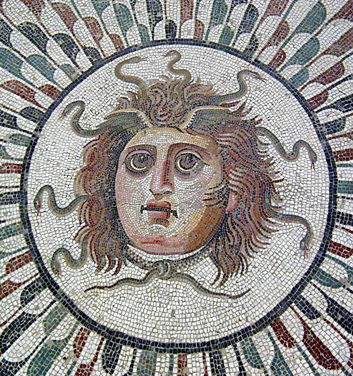Roman Mosaic depicting Medusa, from Tunisia.