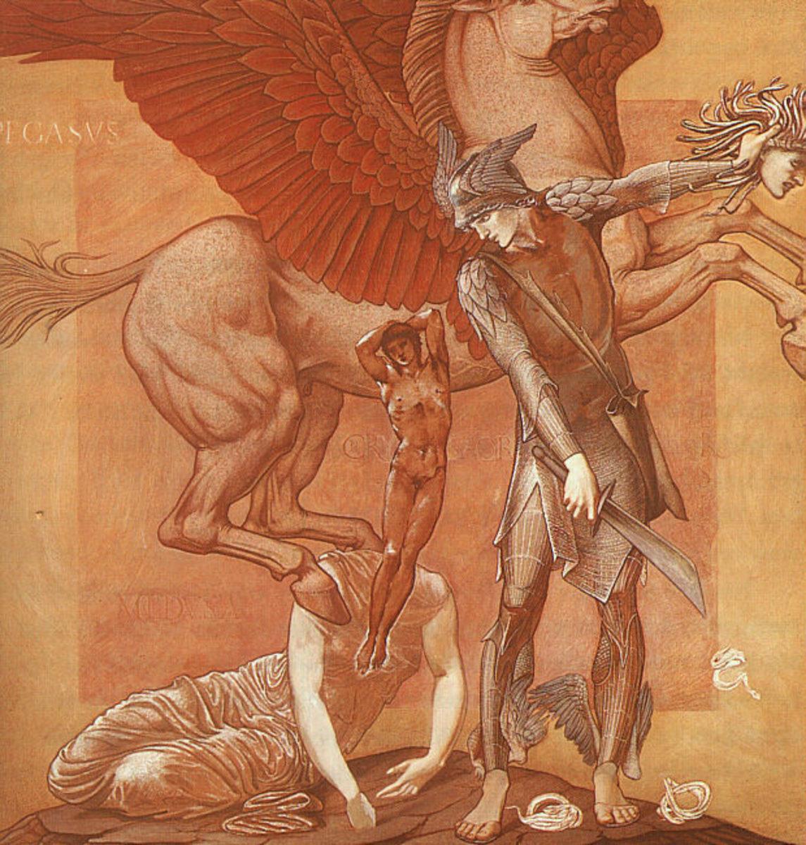 'The Birth of Pegasus and Chrysaor' by Edward Burne-Jones, C. 1876-1885.