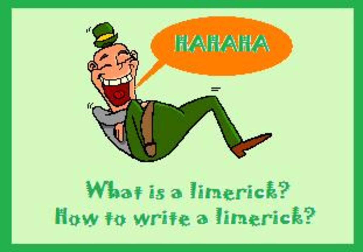 how do you write a limerick Limericks represent the fun and irreverent side of poetry while they are structurally traditional, relying on a strict formula of rhyme and meter, limericks can cross into silly territory this loose-collared version of poetry can take bend rules and social convention and remind the reader to not take things so.