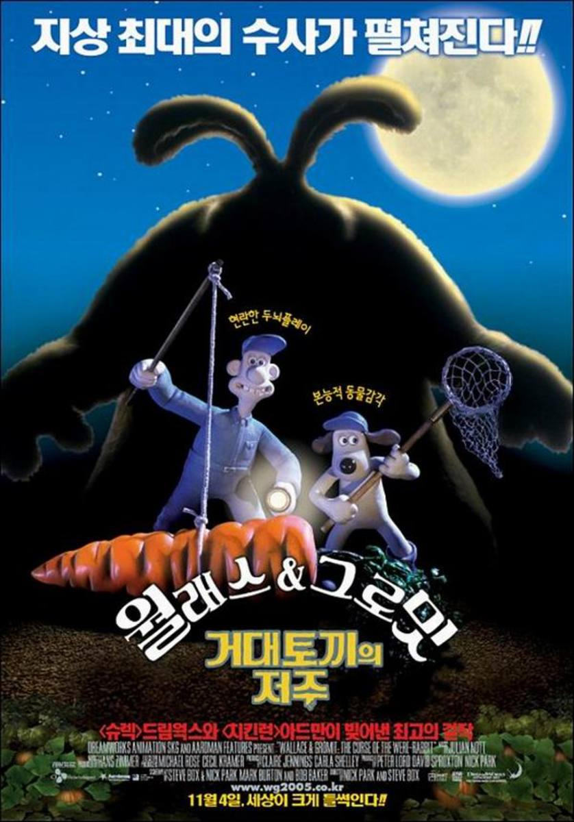 Wallace & Gromit in The Curse of the Were-Rabbit (2005) Japanese poster