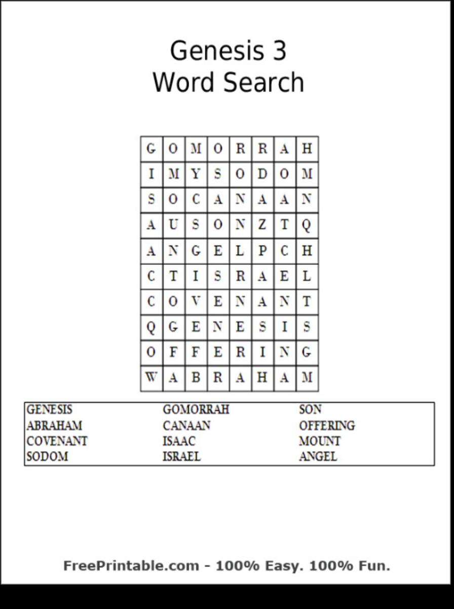 genesisbiblewordsearchprintables