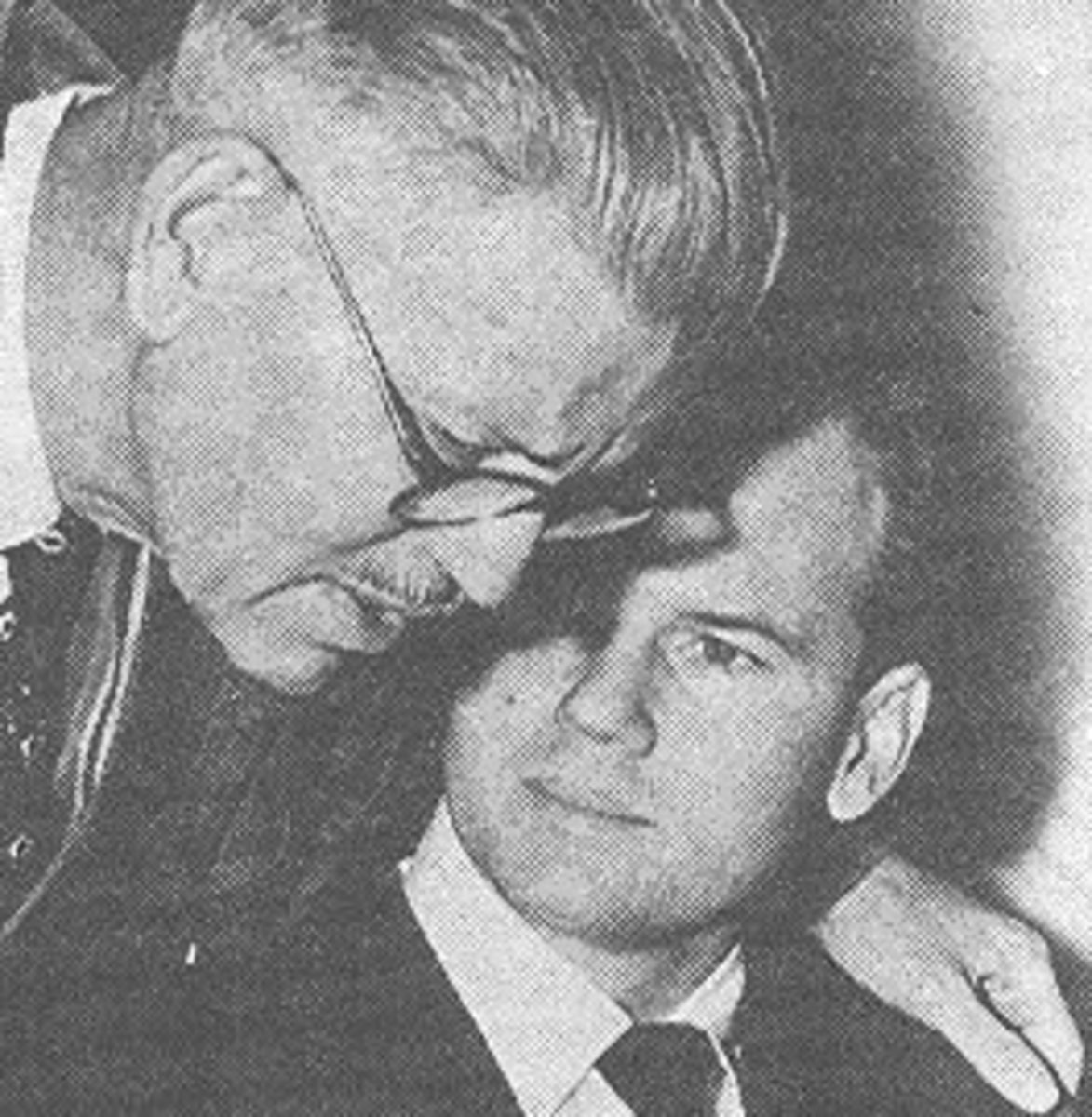 Dr. Sam Sheppard and his Father at trial.