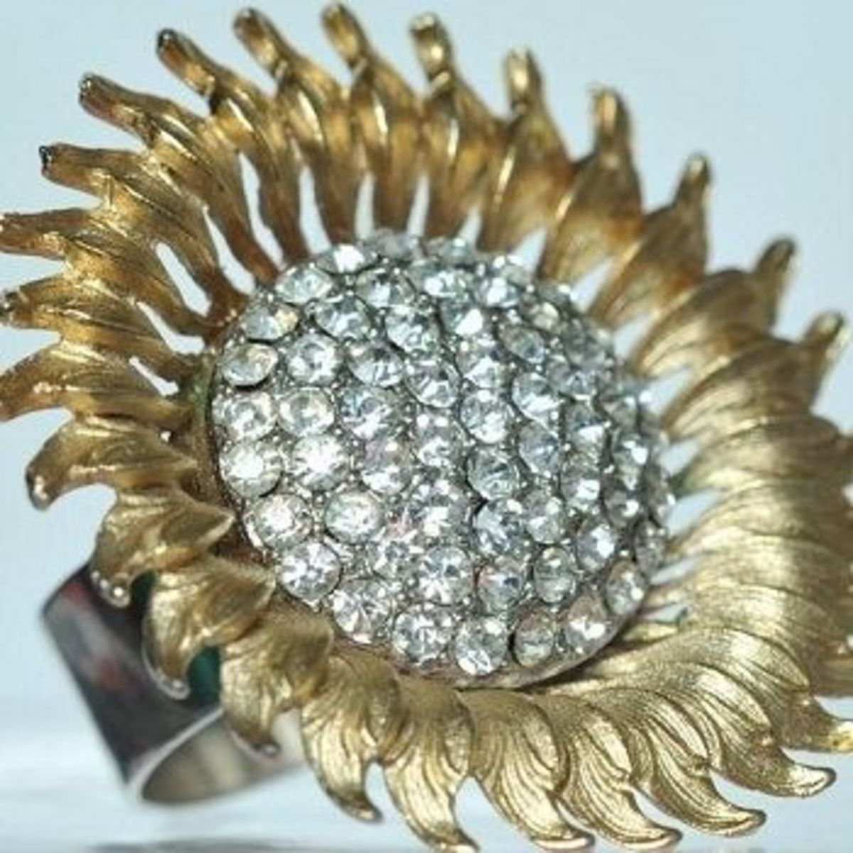 Sunburst upcycled ring by Vintage Fusion Jewelry