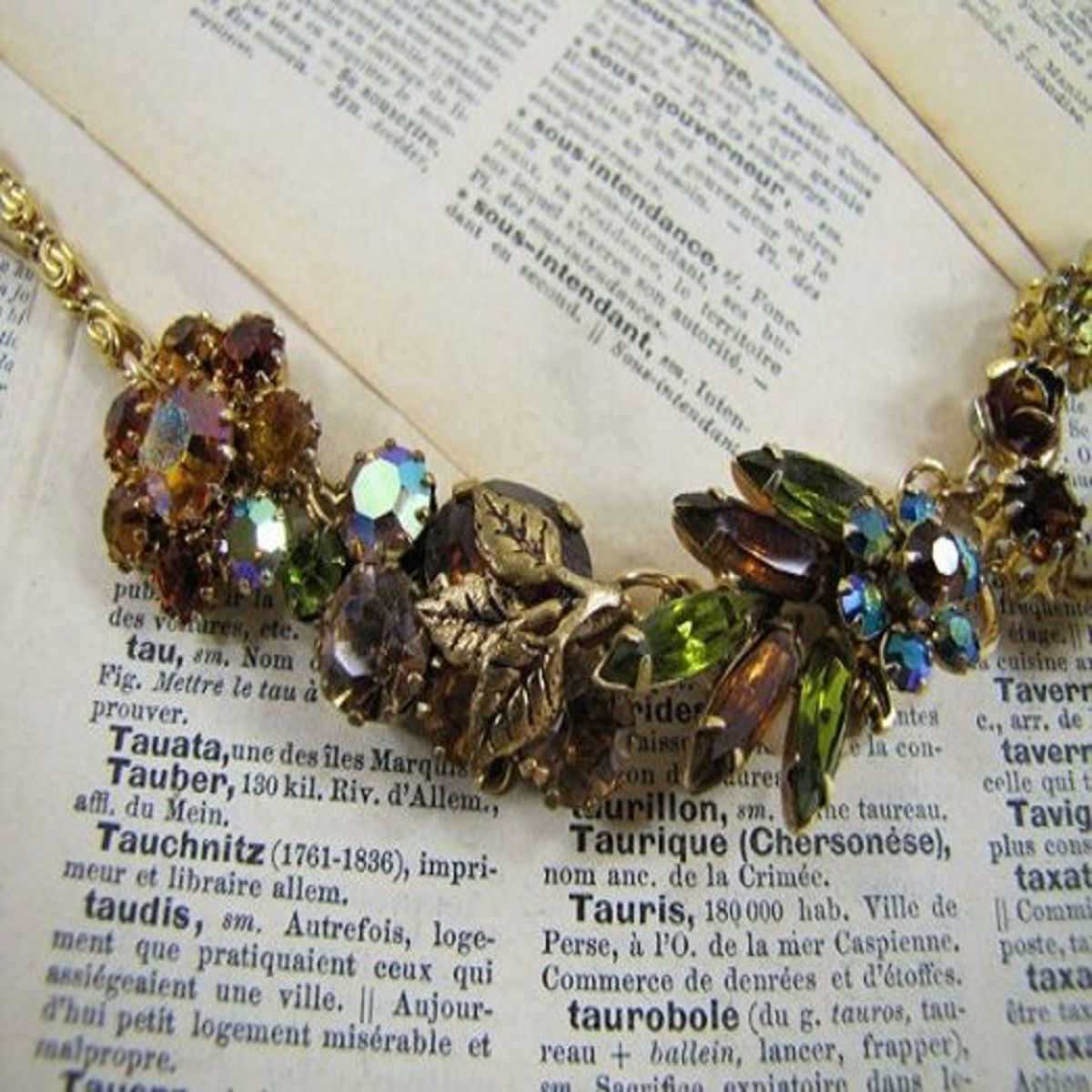 Vintage jewelry repurposed into a bracelet by Rose and Thatch