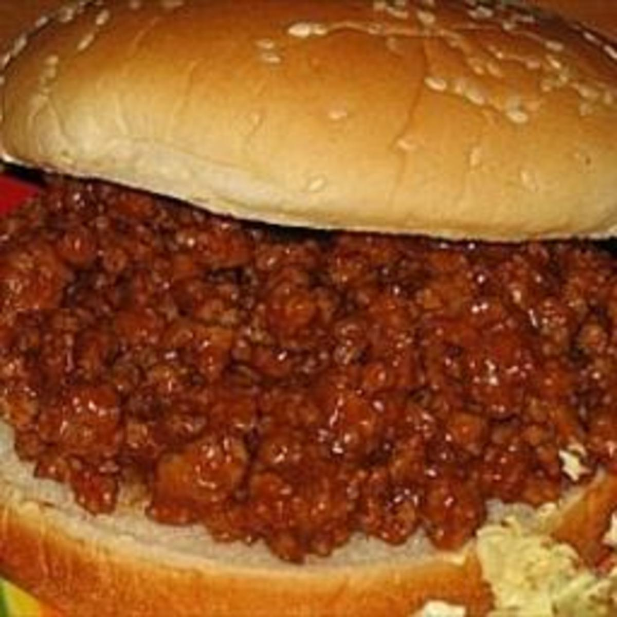 Here is a photo of the below delicious Homemade Sloppy Joes that are so delicious. Give them a try because they are delicious.