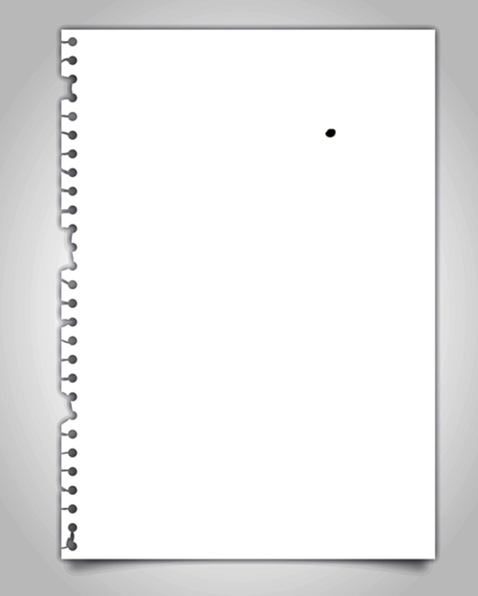 Even a single black dot is seen easily on a clean white paper.