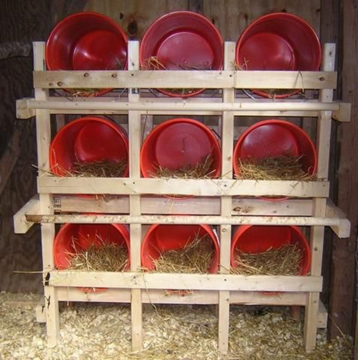 5 Gallon Buckets Make A Great Nest Box Set Up. Build A Wooden Frame To Hold Your 5 Gallon Buckets. Put Hay Or Straw In The Bottom Of The Buckets To Encourage Your Hens To Lay Their Eggs There.