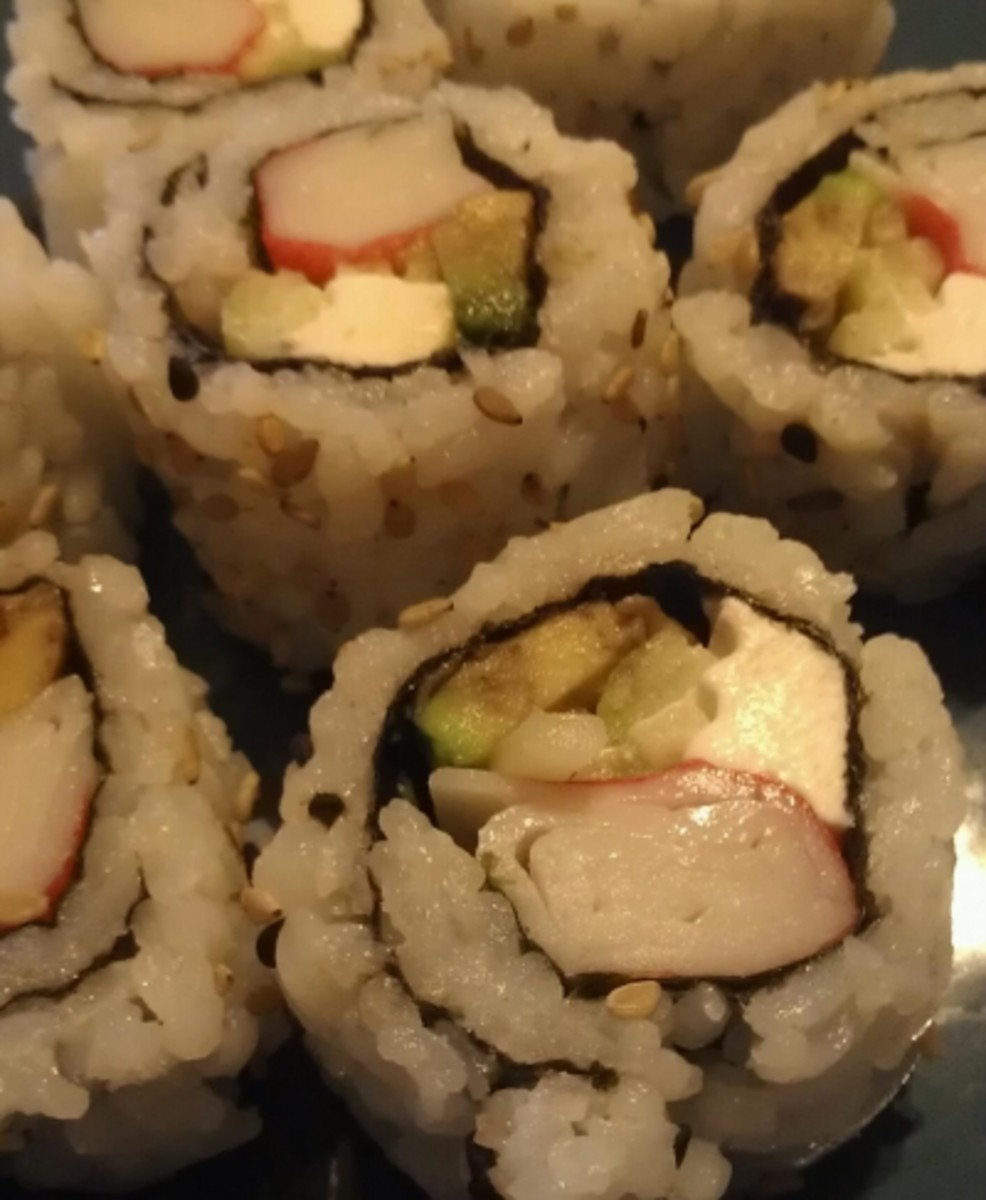 cream cheese sushi roll