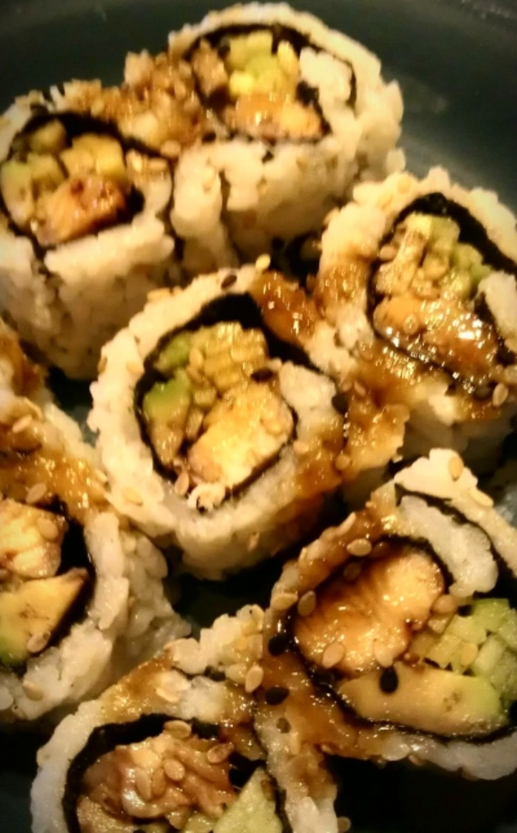 Eel Cucumber Sushi Roll