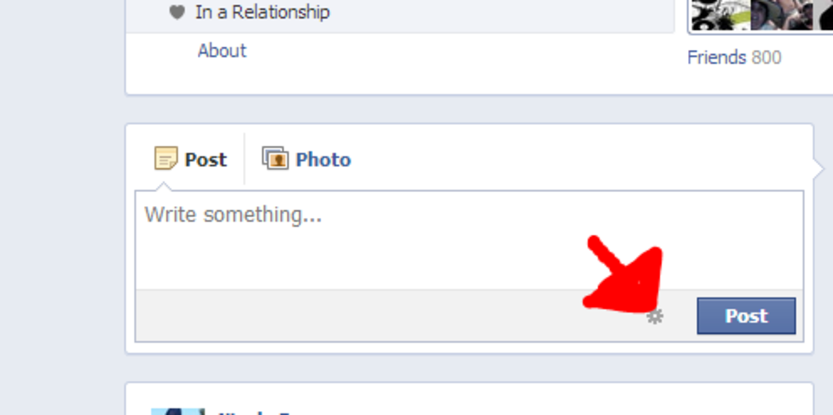 Click on the POST button to make your status visible.