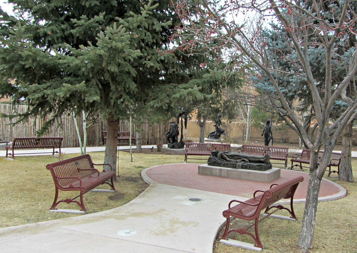 Prayer garden at the Cathedral Basilica of St. Francis of Assisi