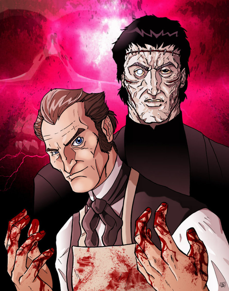 Victor Frankenstein and His Monster