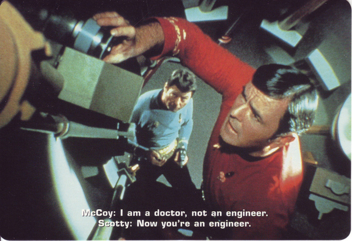 The engineer from the original Star Trek series is a good example of a handyman type of Caregiver.