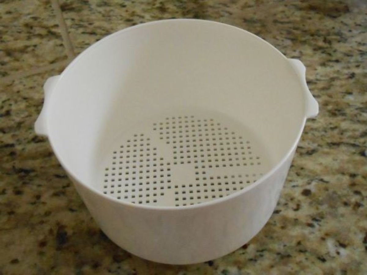 The steamer basket can double as a strainer and is handy when the grains need to be rinsed before cooking.