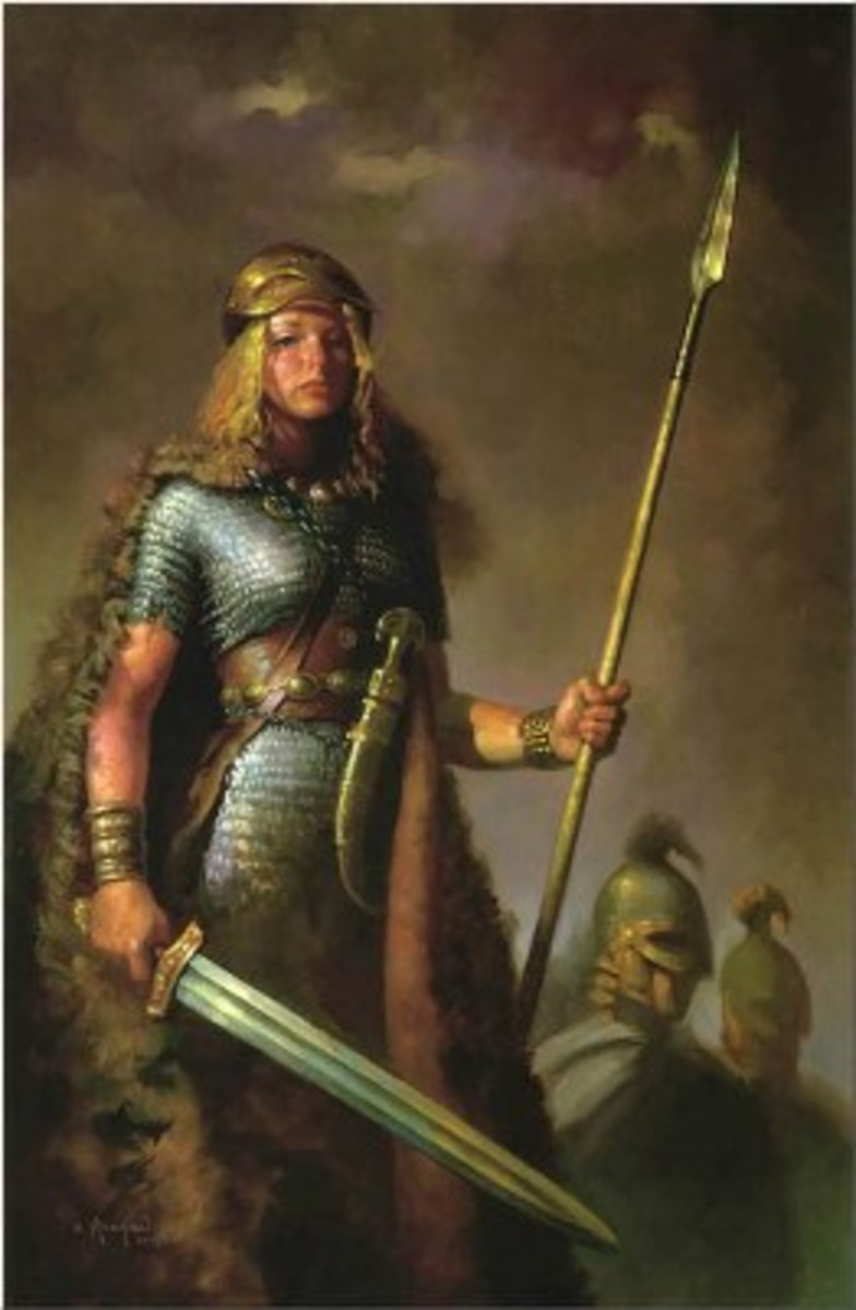 Shield-maiden Hervör