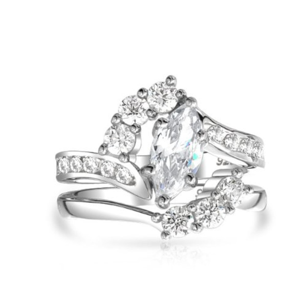 Marquise Diamond Bridal Ring Set