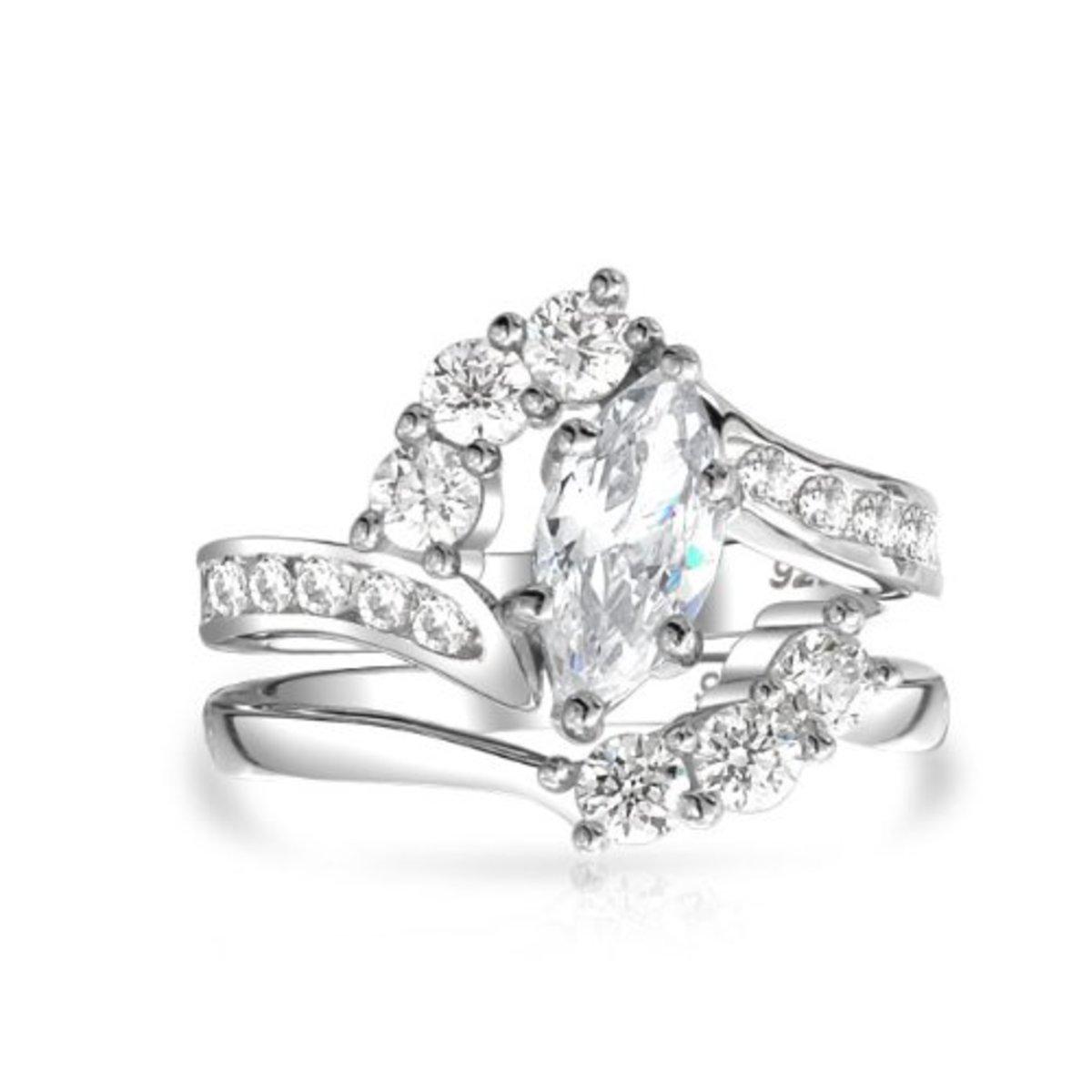 Marquise Diamond Bridal Ring Set