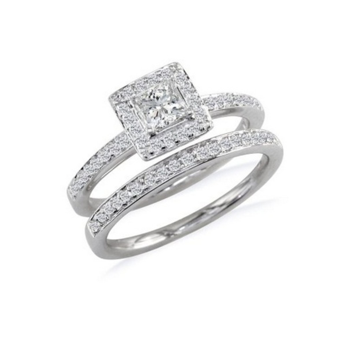 Princess Cut Diamond Bridal Ring Set