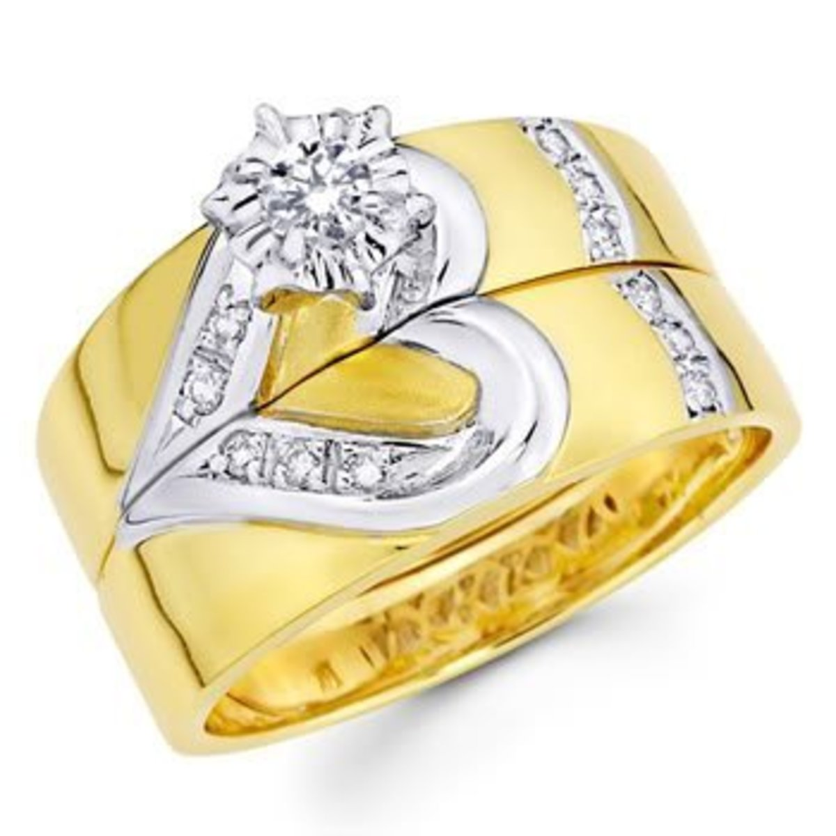 14 K Yellow Gold Diamond Ring set