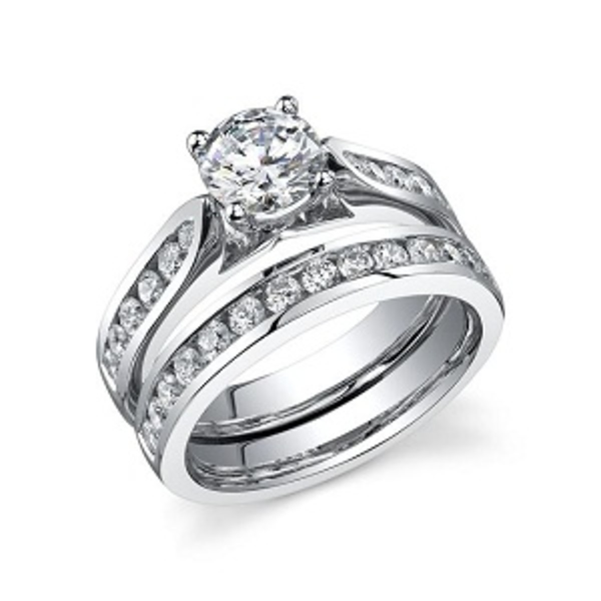 Round Cut Diamond Ring set