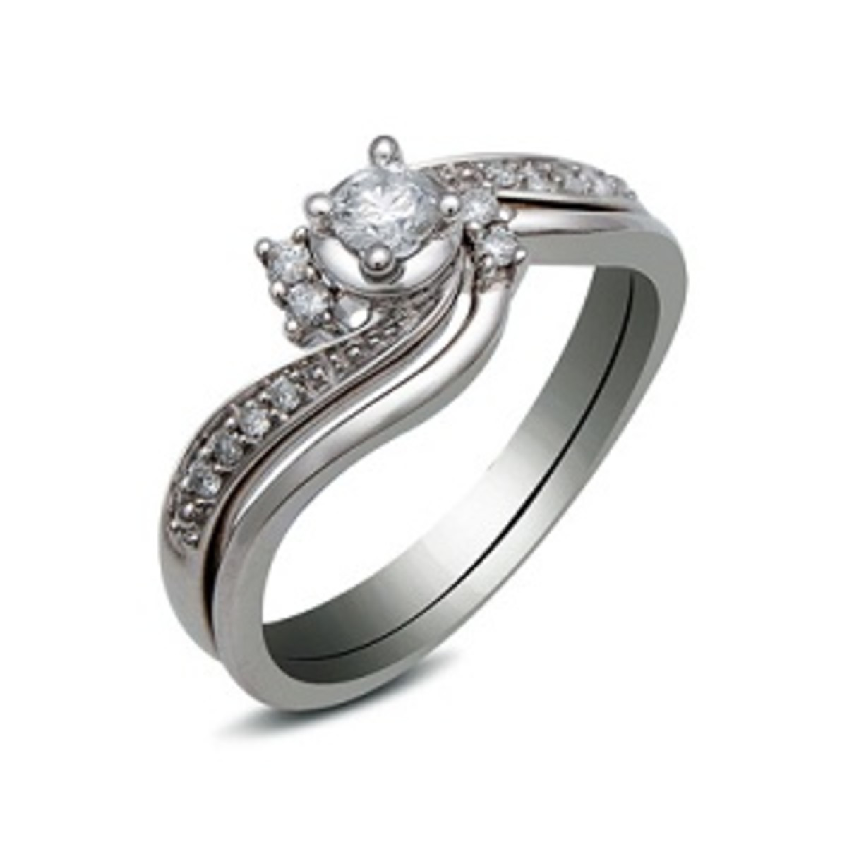 Round Diamond Bridal Ring Set