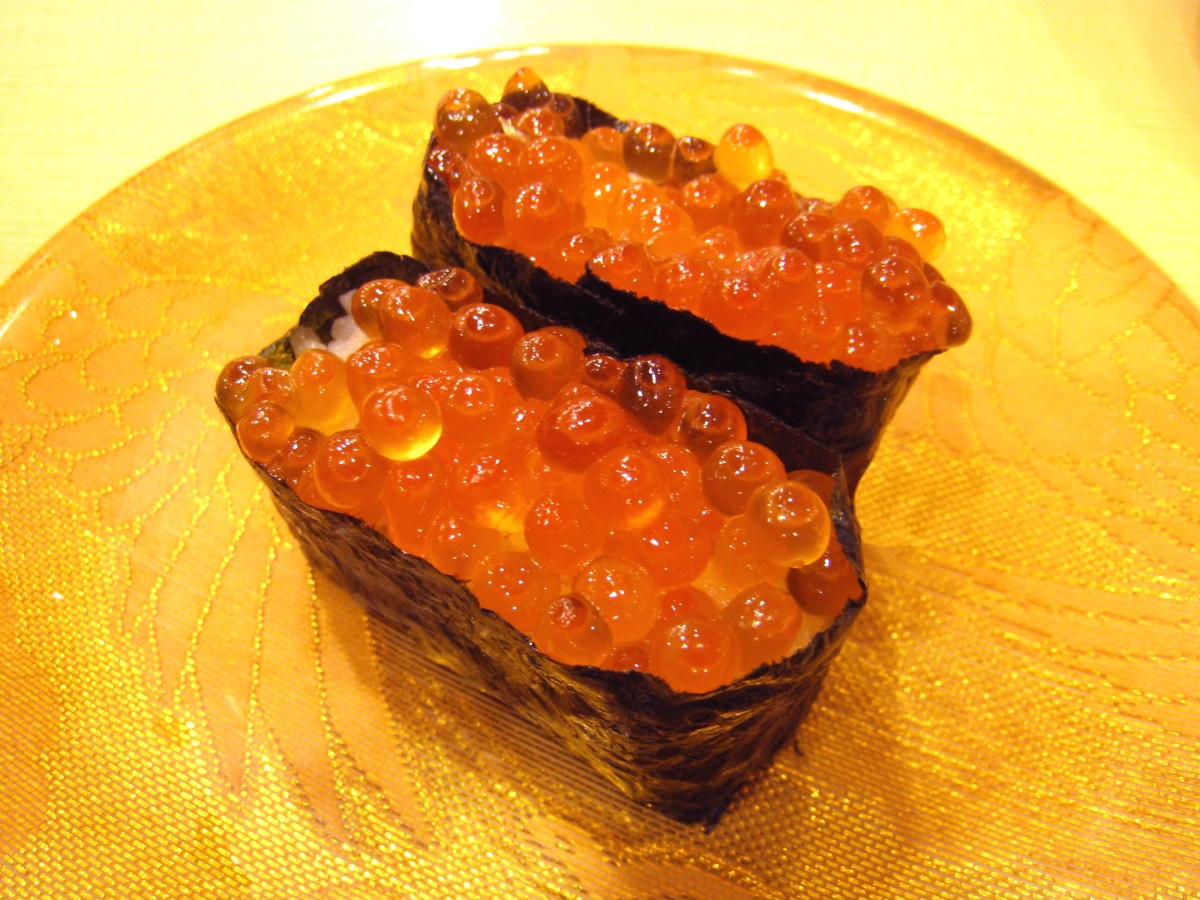 Sushi offerings like salmon roe may be a little too ambitious if you're new too sushi, both in consistency and flavor.