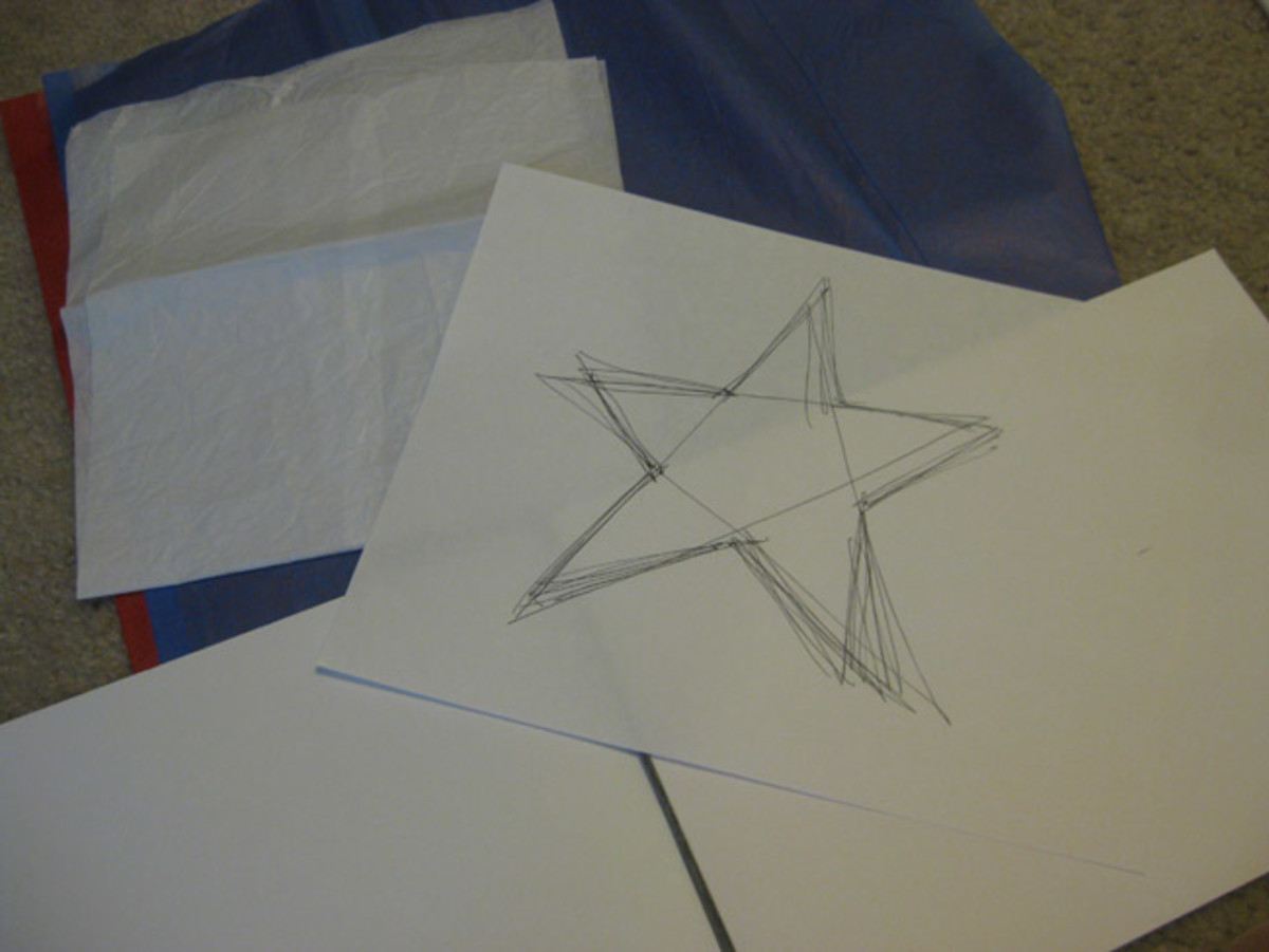 Drawing the star.