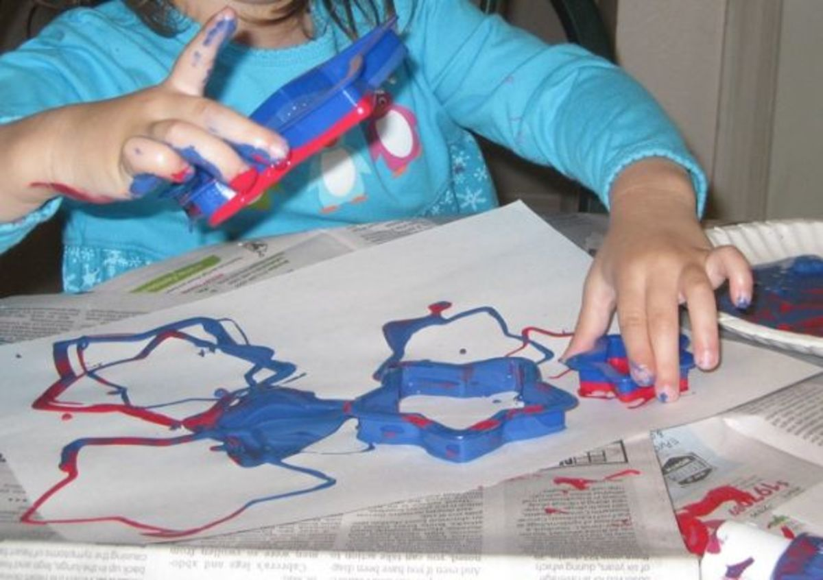 cookie cutter star stamps red white and blue memorial day crafts for kids