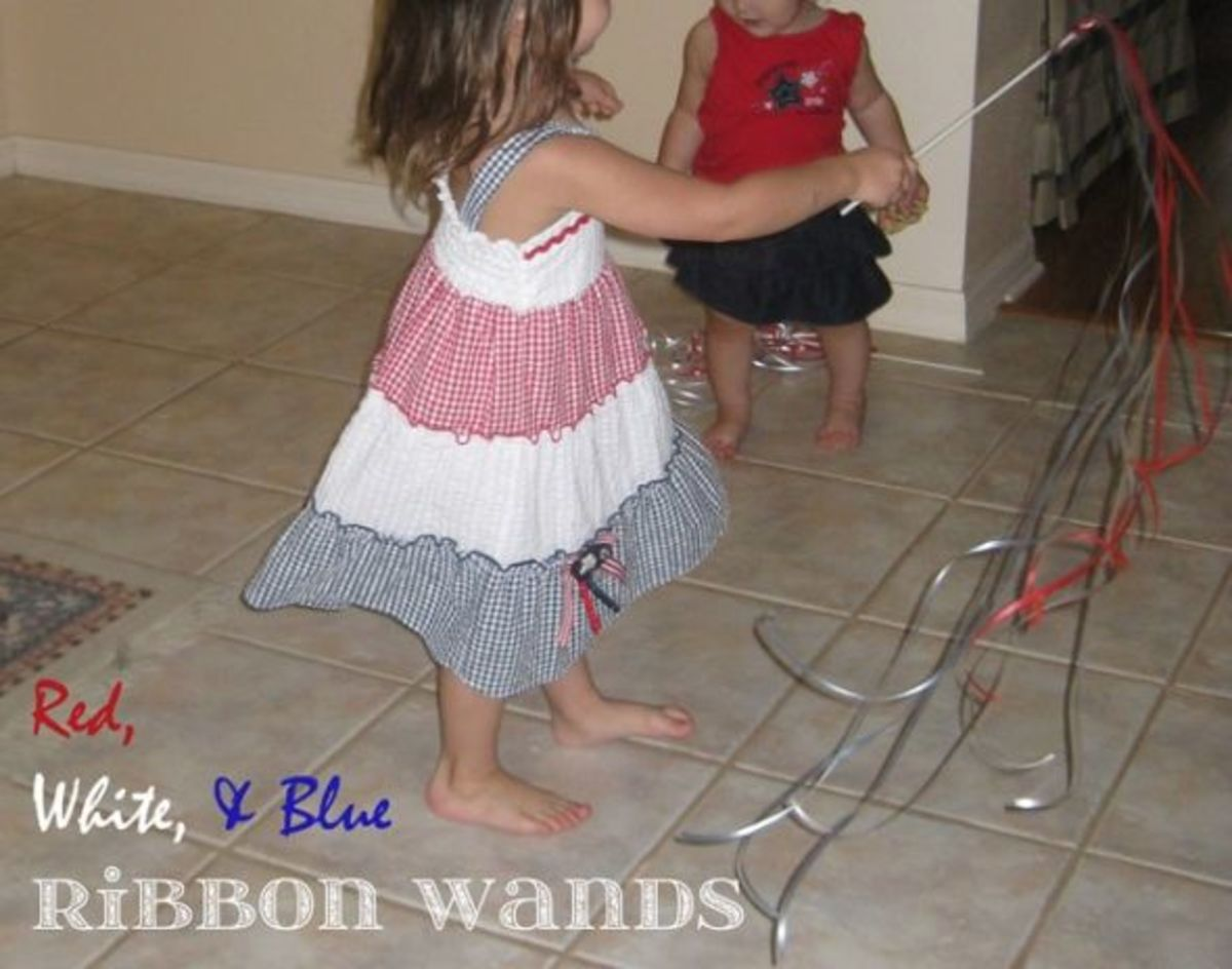 red white and blue patriotic ribbon wands memorial day crafts for kids