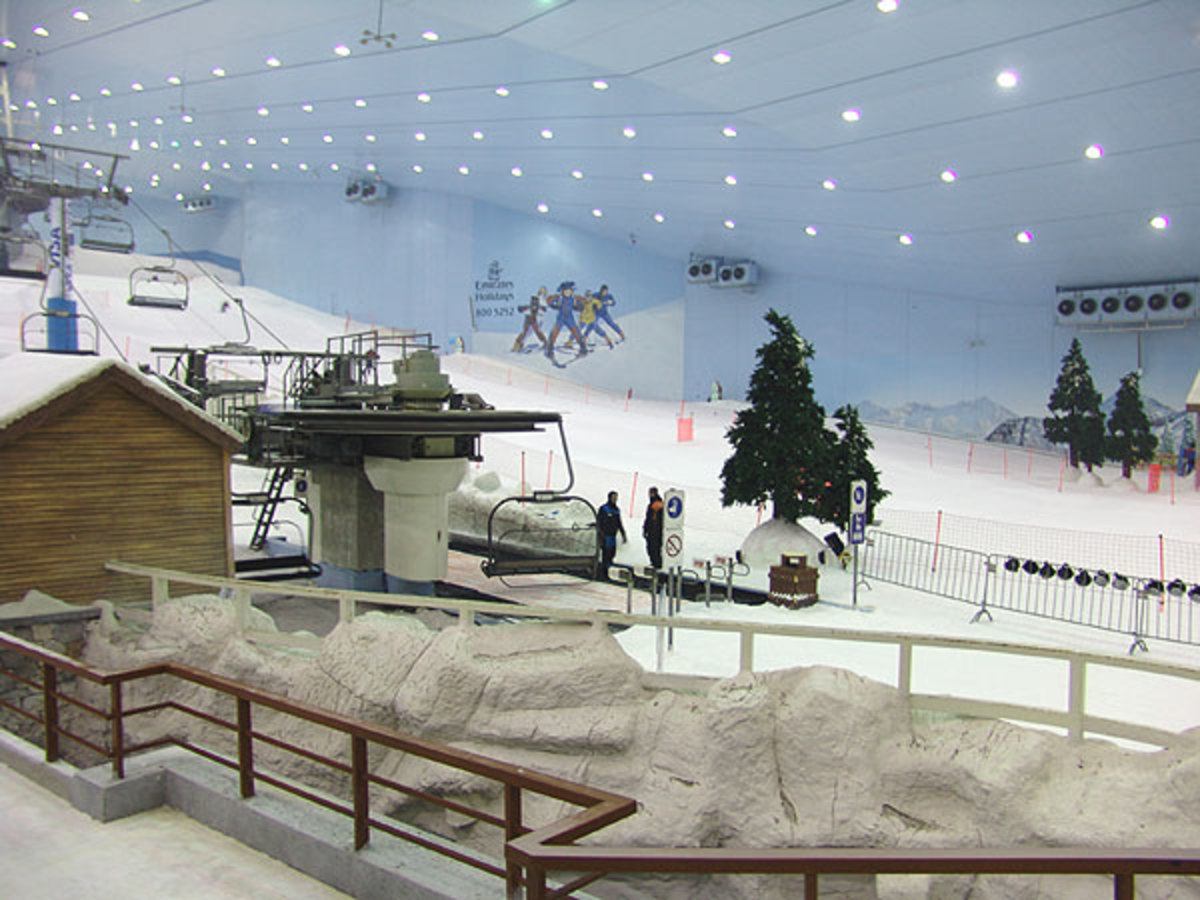 Ski Dubai in Mall of Emirate