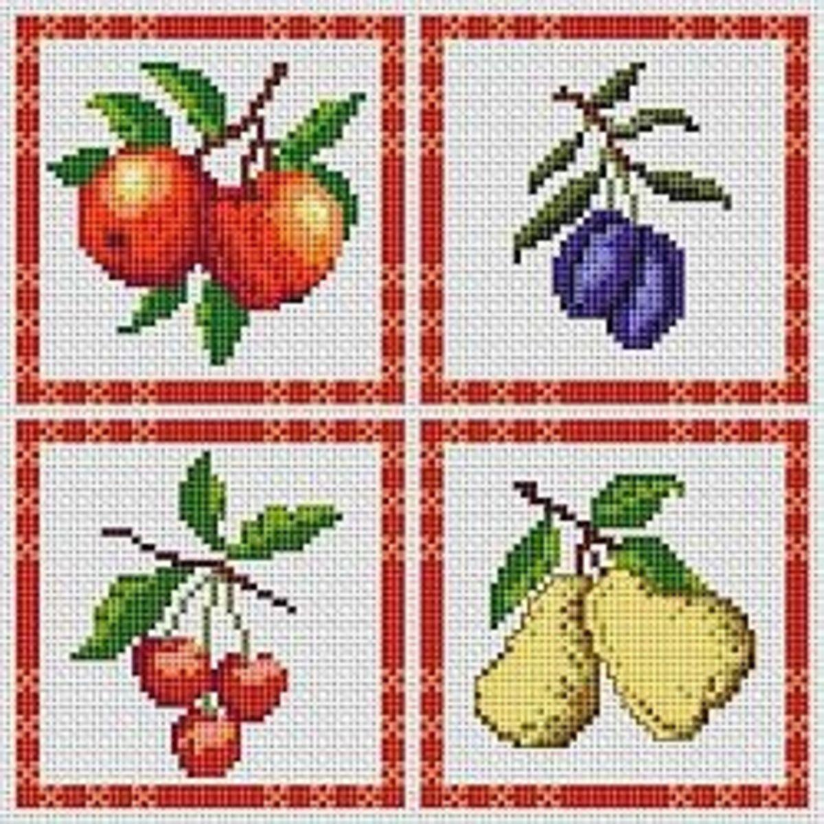 kitchen cross stitch pattern