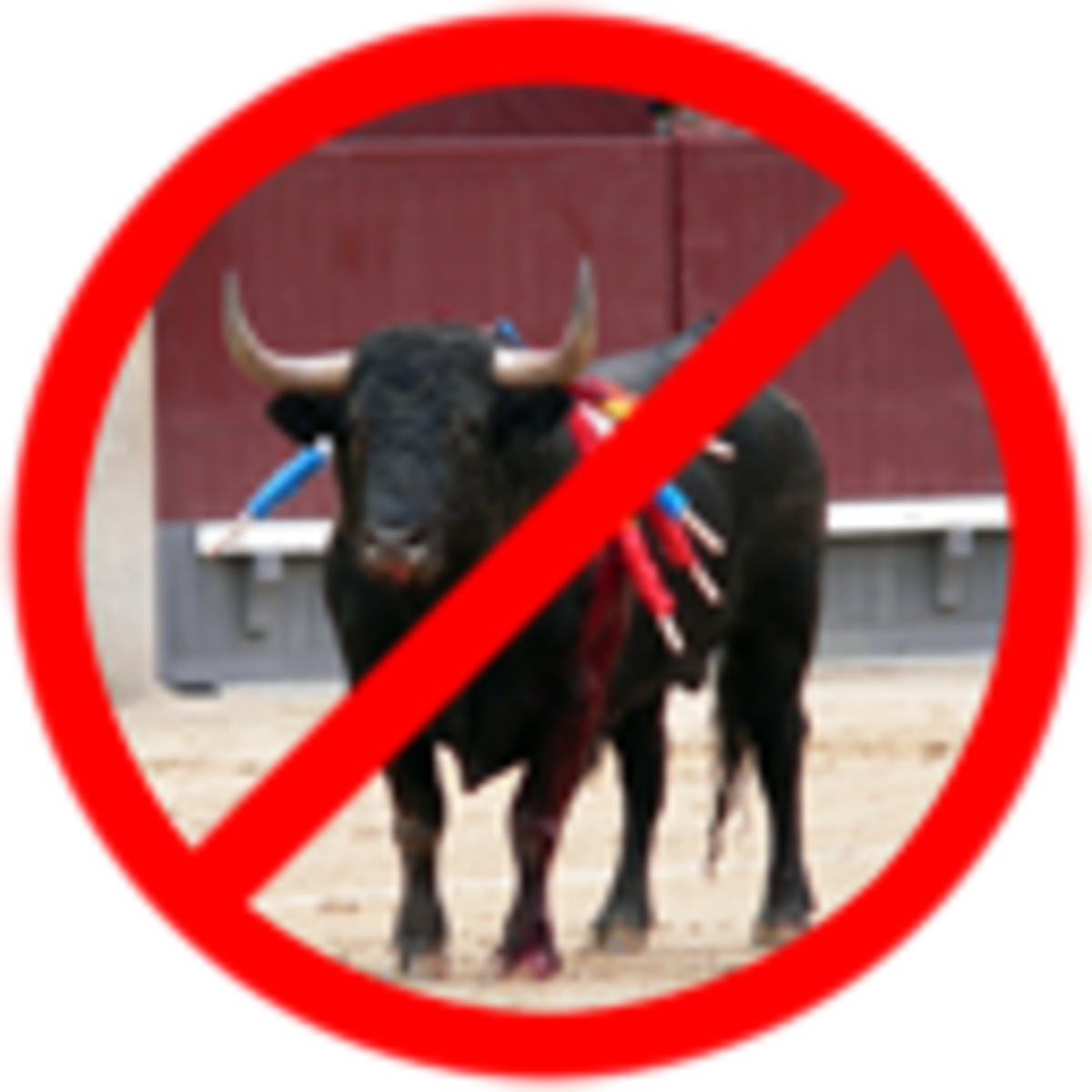 Poster against bullfighting