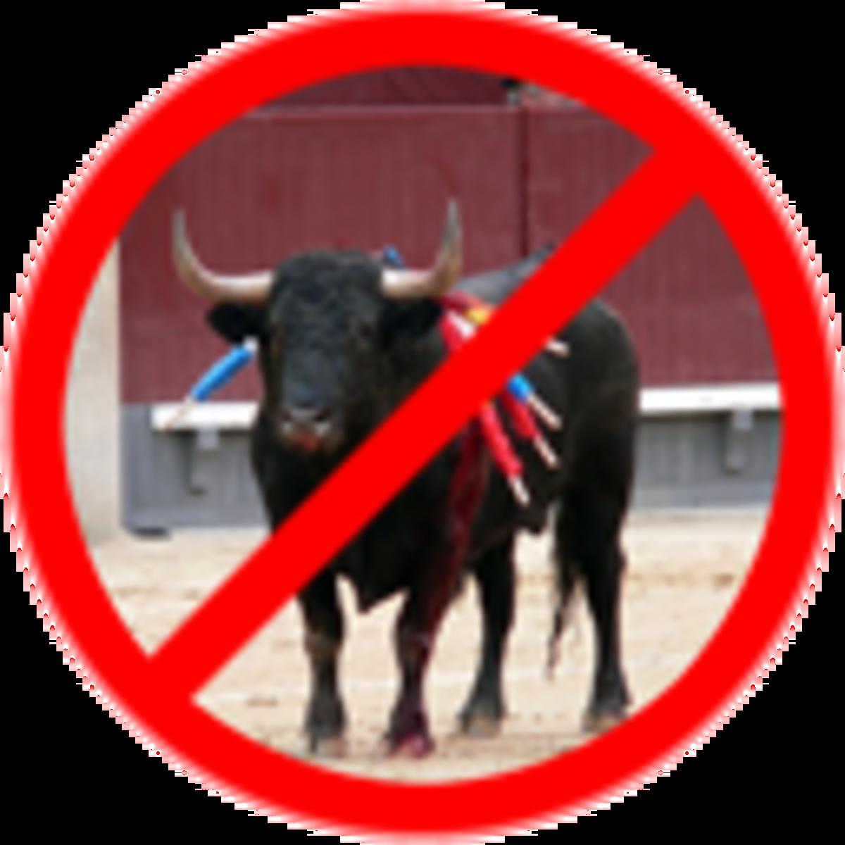 Poster against bullfighting