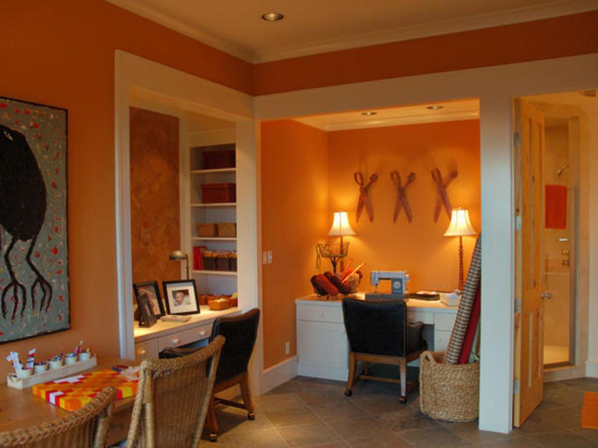 A stimulating craft room