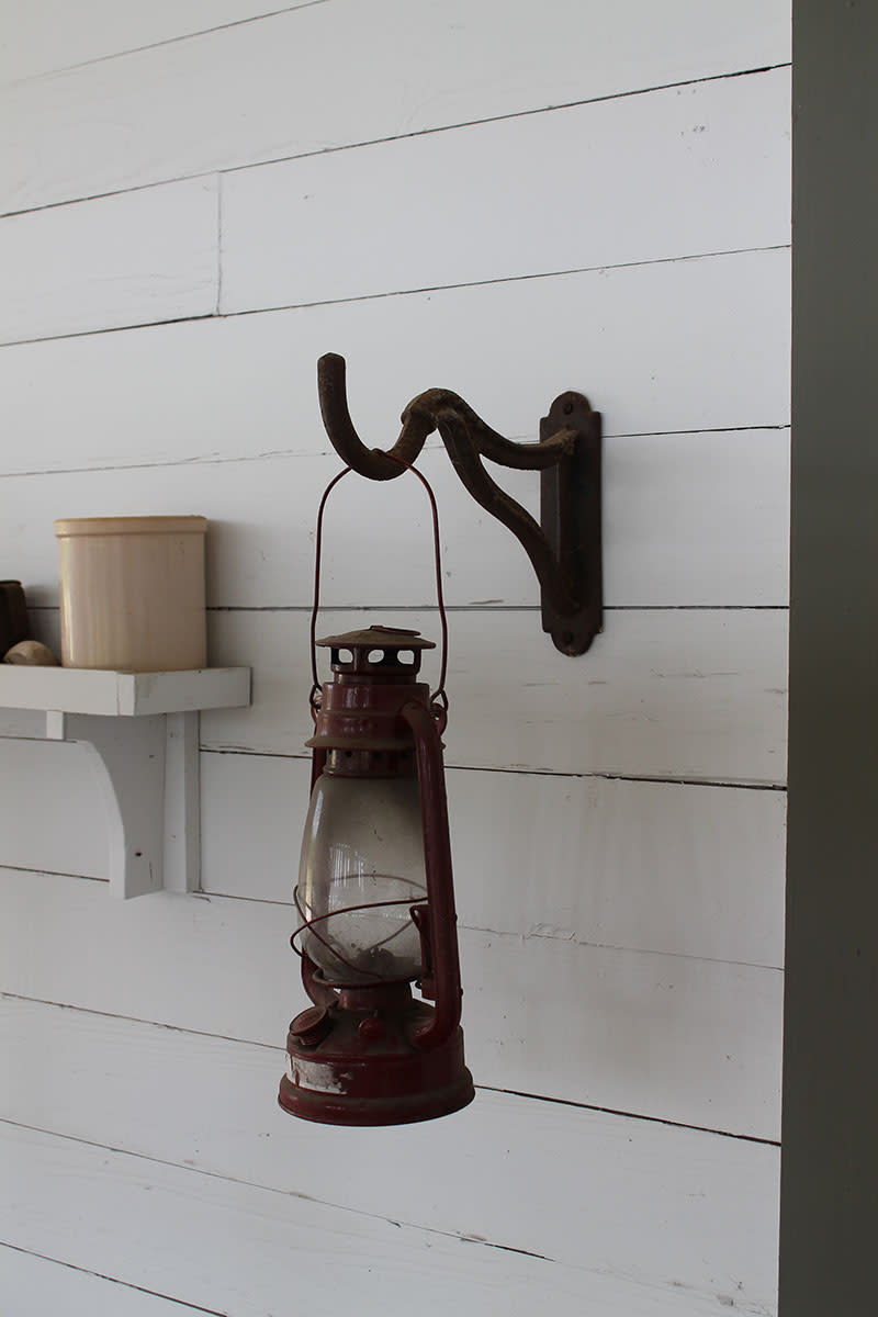 Kerosene hurricane lamp used for outdoor and in barns.