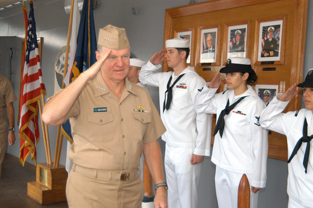 US Navy Salute to Quarterdeck. commons.wikimedia.org