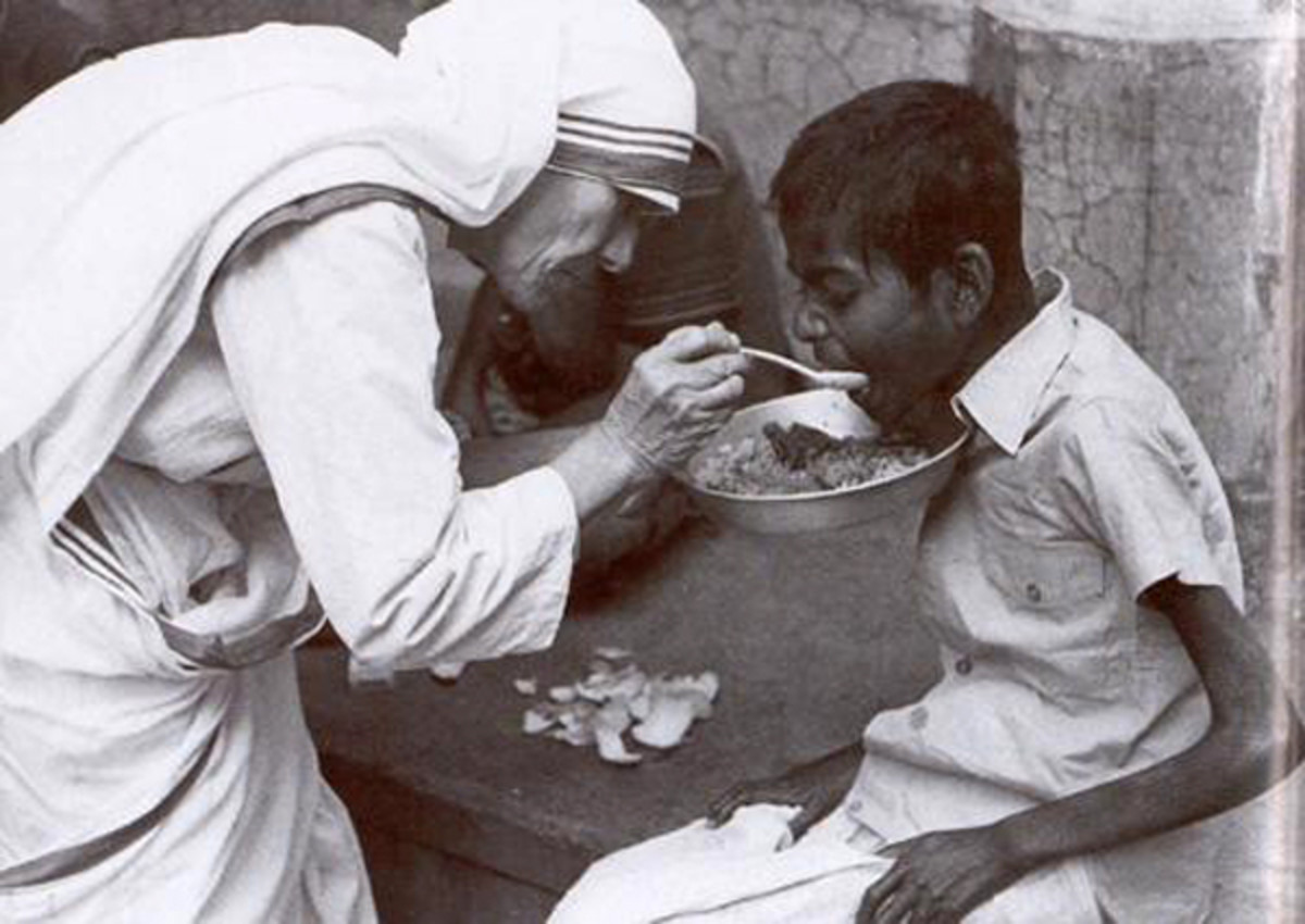 A shining light, Mother Theresa, who showed the world how we can serve ourselves and God by serving others.