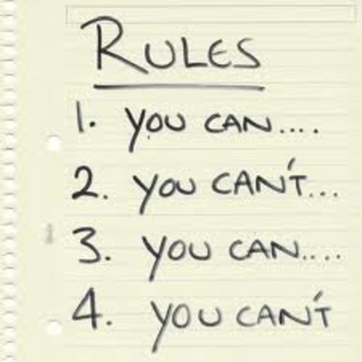 Does Your Relationship Have Too Many Rules? -Stephanie Bailey