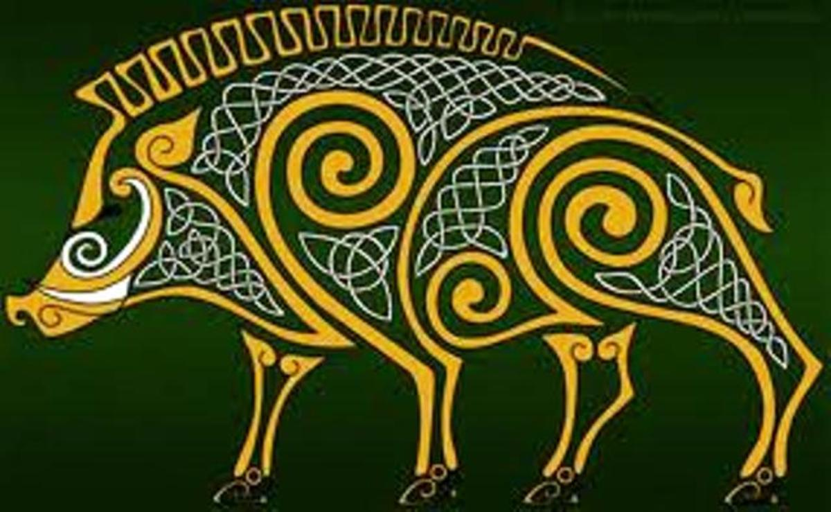 The boar was one of the Celts' foremost animal icons. Gods and heroes who changed shape preferred the boar for its ferocity