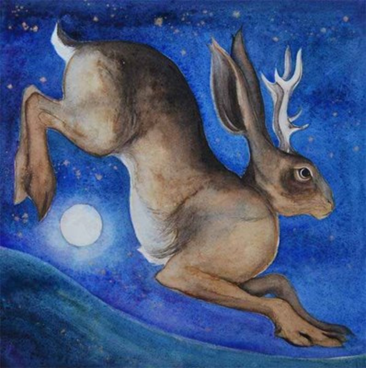 One of many Celtic stories around animals, this illustrates one of a deer turned hare by magic - Celtic witchcraft was something of wonder, not of fear  (littleredelf.com)