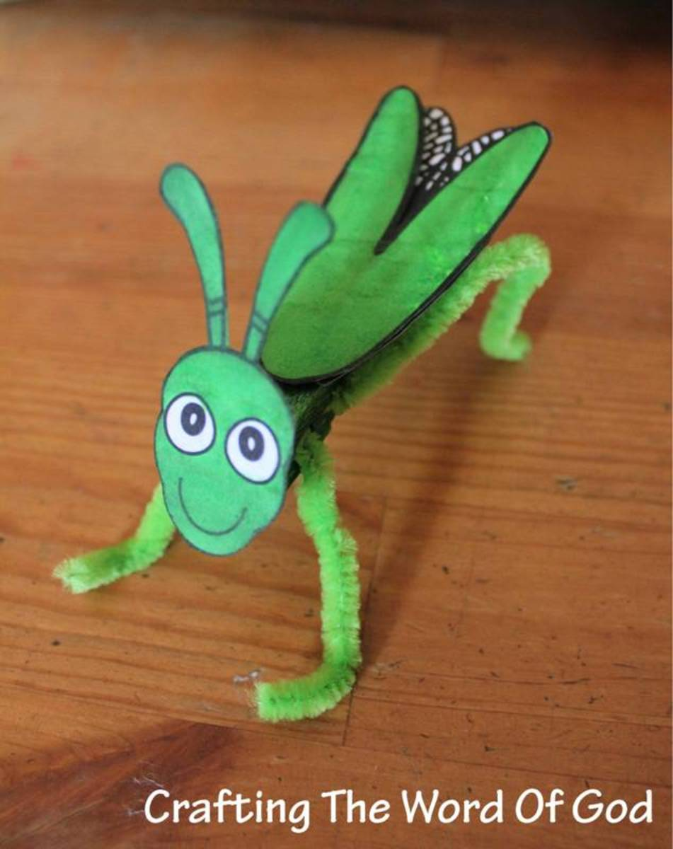 The Plague Of Locusts Clothespin Grasshopper