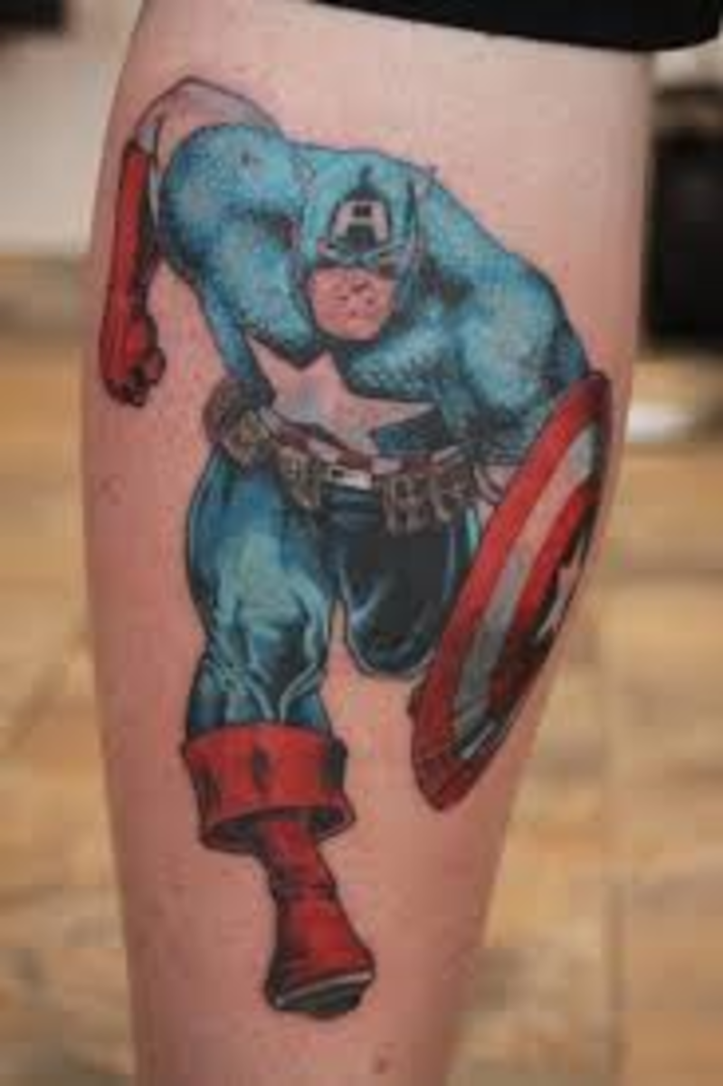 Captain America Tattoo Designs And Meanings-Captain America Tattoo Ideas And Pictures