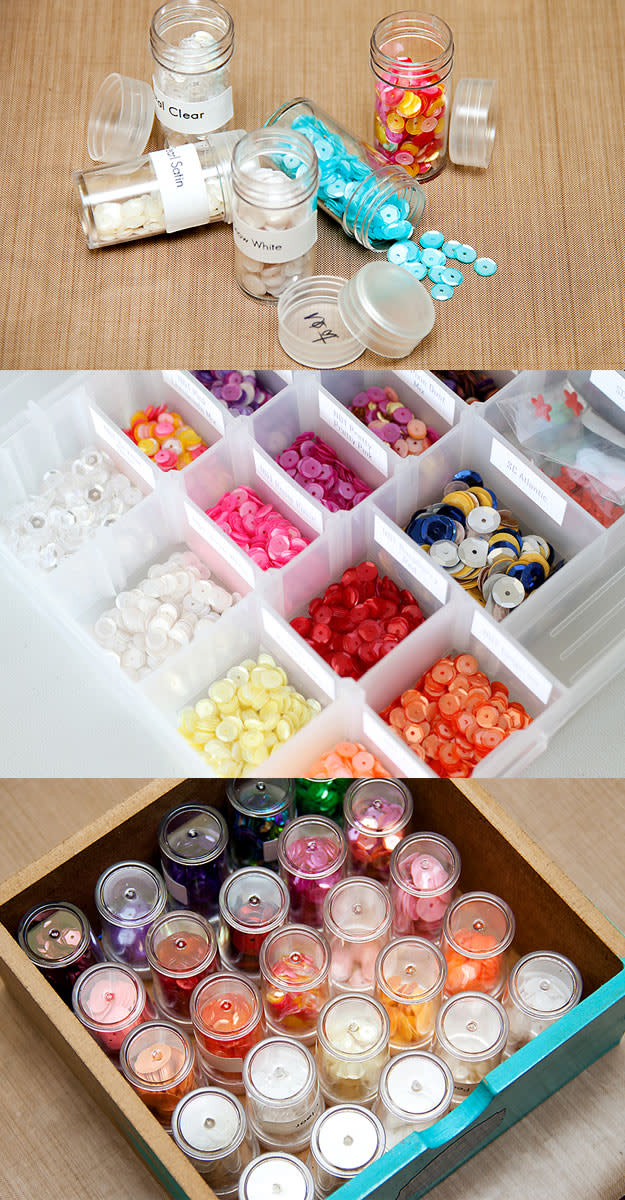 Here are some ideas to store those tiny embellishments