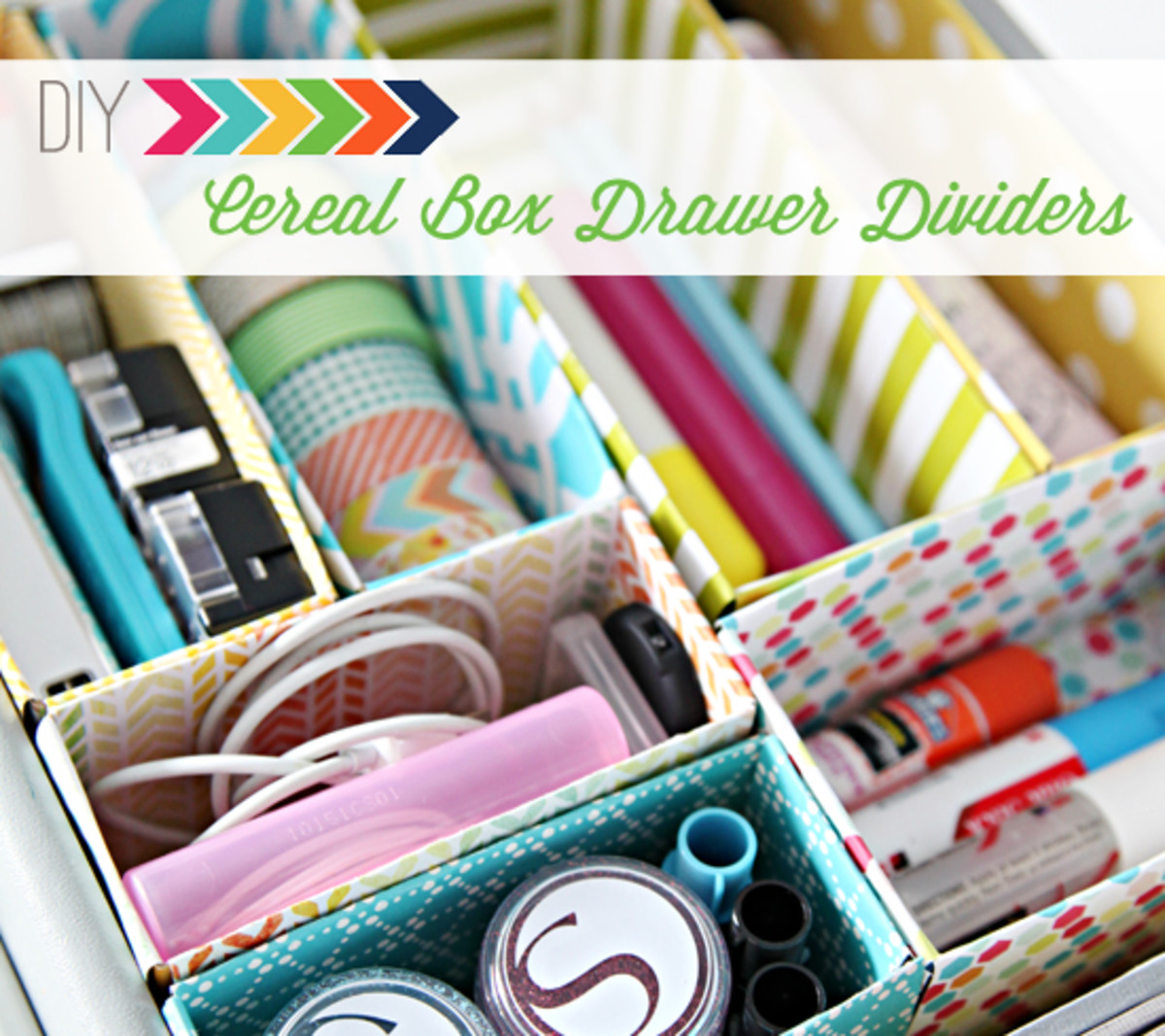 Simple do it your self, recycled cereal box  is perfect for storing your embellishments