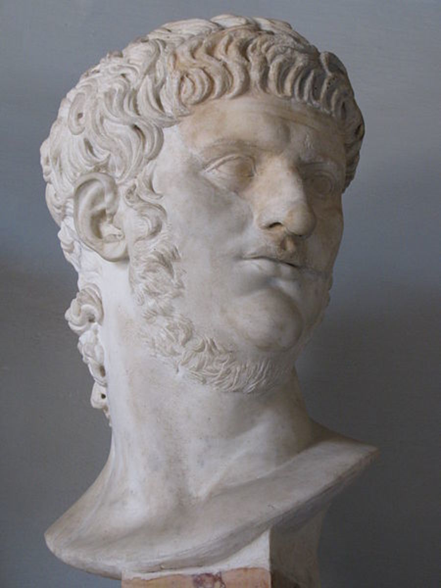 The Emperor Nero (Ruled AD54-68). Ancient sources mostly paint him as a tyrant, especially those of Tacitus.