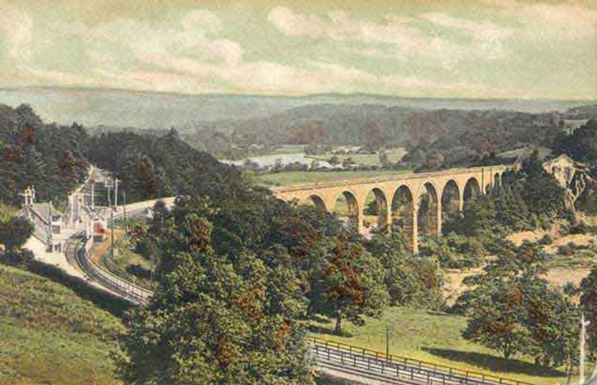 Lambley Viaduct crossed the River South Tyne, taking the railway south from Haltwhistle to Alston in Northumberland