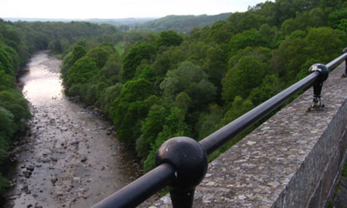 The view from the viaduct of the River South Tyne on the return to the car park