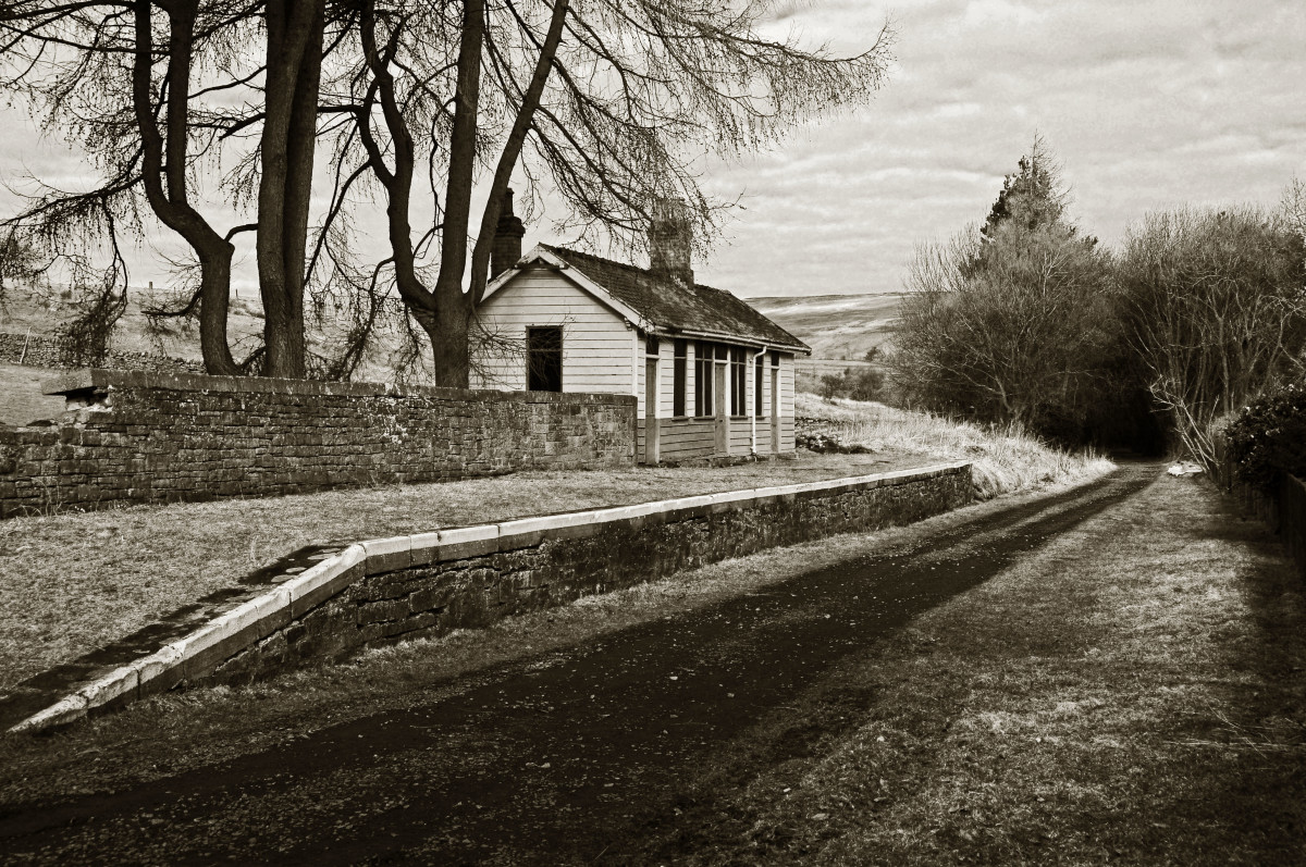 This was Slaggyford Station after closure and the track had been lifted