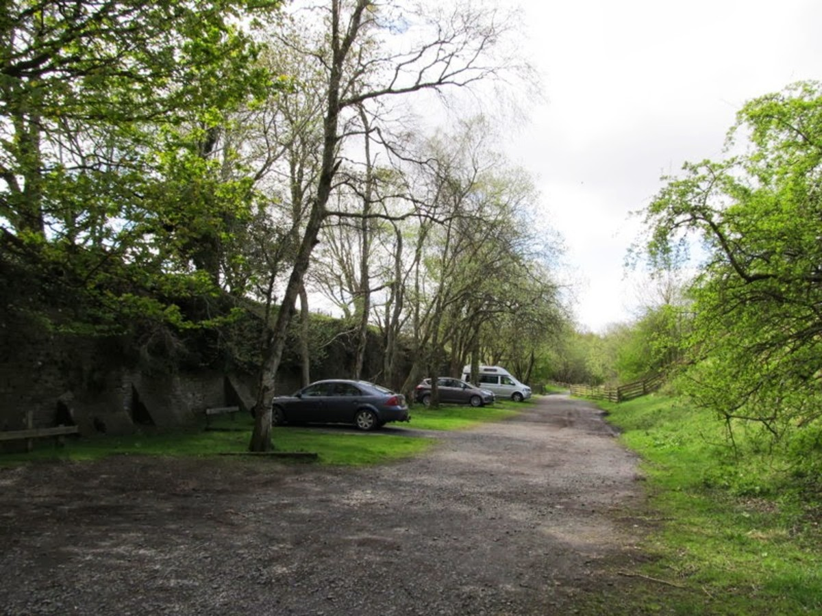 The car park near Lambley Viaduct on the former Alston railway trackbed